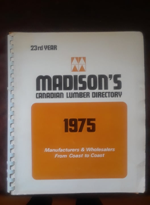 Madison's Lumber Directory 1975 Edition