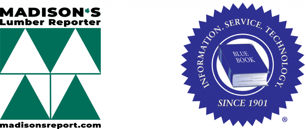 Madison's Lumber Reporter and Blue Book logos
